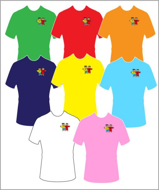 T-Shirt Übersicht komplett